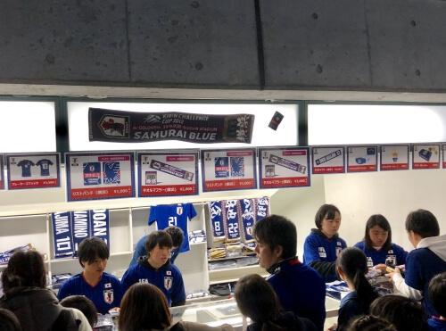 サッカー日本代表グッズ売り場