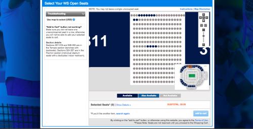 ウエスタン&サザンオープンチケット