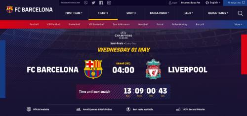 FCバルセロナチケット購入方法