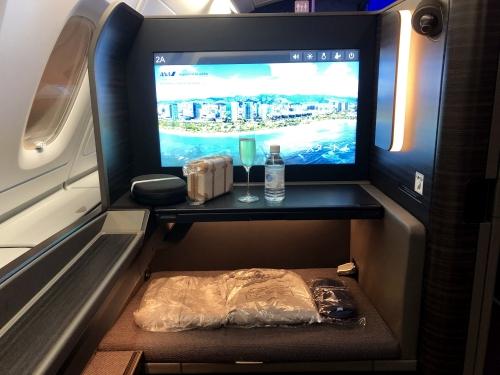 ANA A380ファーストクラスのアメニティ