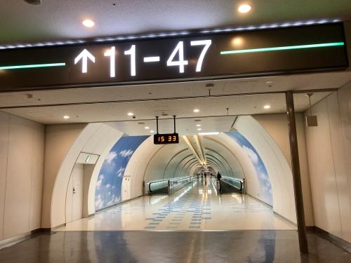 成田空港の地下通路