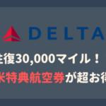 デルタ航空北米特典航空券30,000マイル