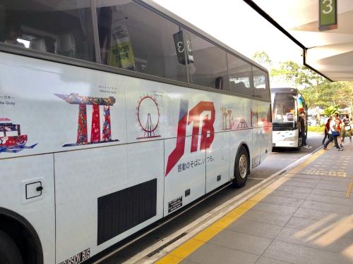 ナイトサファリシンガポールの送迎バス