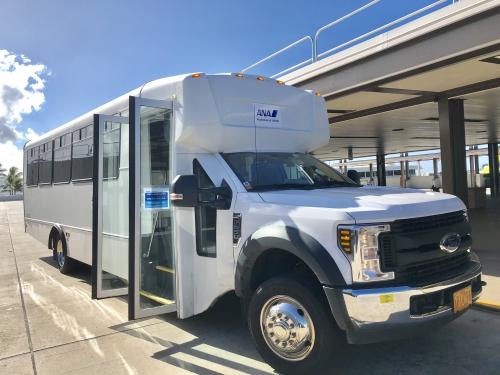 ホノルル空港のANAバス