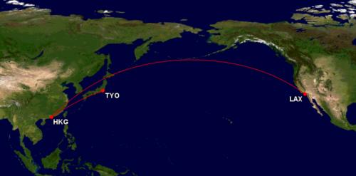 アラスカ航空でキャセイ