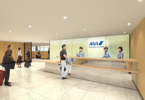 羽田空港のANAアライバルラウンジ