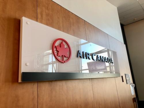 モントリオール空港のエアカナダラウンジ