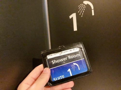 羽田空港第3ターミナルのANAスイートラウンジのシャワー