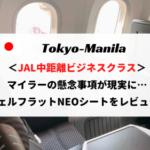 JALビジネスクラス搭乗記ブログレビュー