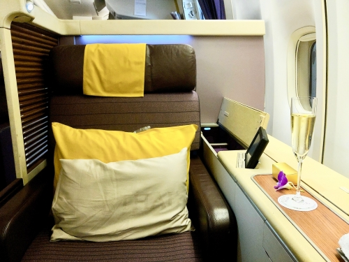 タイ国際航空TG661ファーストクラス