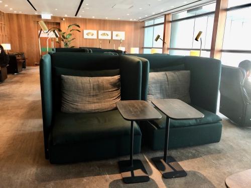 香港空港のキャセイパシフィック航空ラウンジ