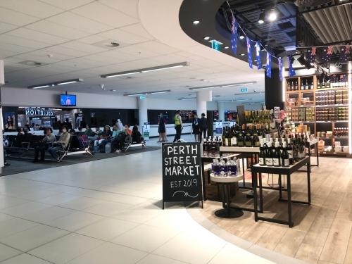 パース空港のニュージーランド航空ラウンジ
