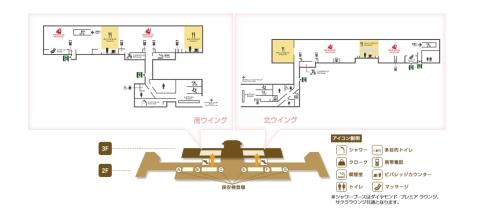 羽田空港のJALサクララウンジ
