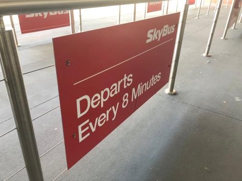 メルボルン空港のスカイバス